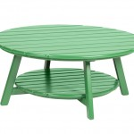 Mesa centro tajá madera lacada verde